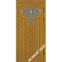 Дверь входная бронированная Новый мир (Каховка) с деревянной облицовкой Лотос