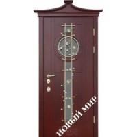 Дверь входная бронированная Новый мир (Каховка) с деревянной облицовкой Сакура
