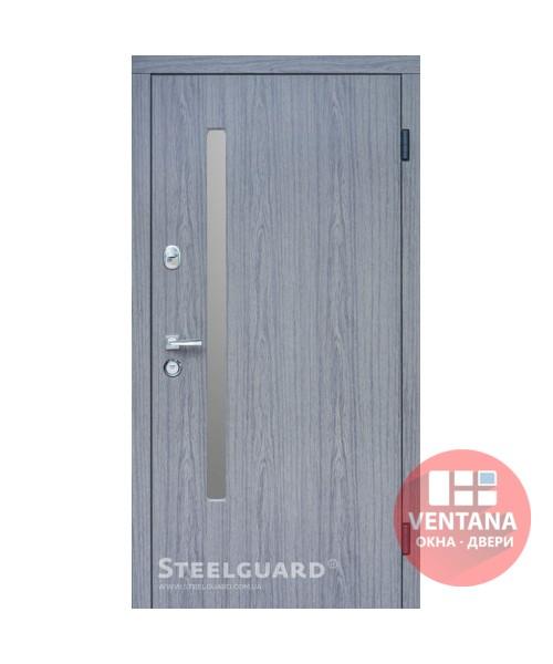 Дверь входная бронированная Steelguard Серия RESISTE AV-1 Grey Glass