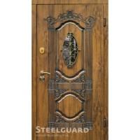 Дверь входная бронированная Steelguard Серия RESISTE Sangria glass