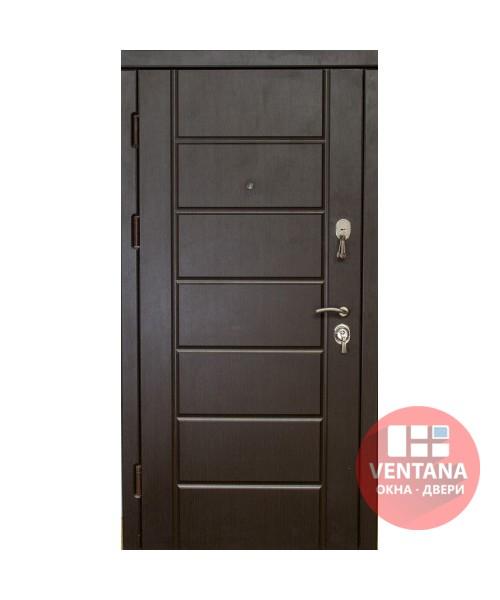 Дверь входная бронированная VERY DVERI Канзас венге моттура (серия «Элит»)