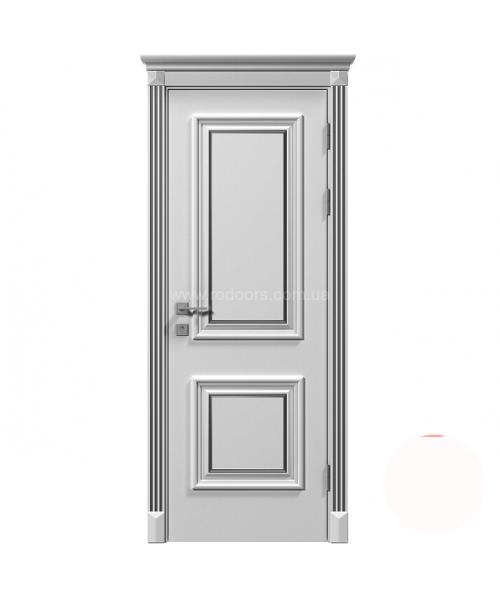 Межкомнатная дверь RODOS Siena Laura глухое, белый мат
