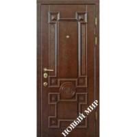 Дверь входная бронированная Новый мир (Каховка) с деревянной облицовкой Венеция