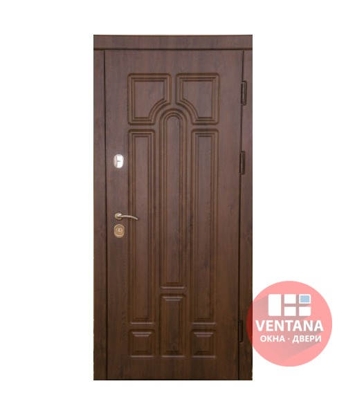 Дверь входная бронированная VERY DVERI Арка дуб бронзовый улица (серия «ВИП+»)