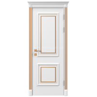 Межкомнатная дверь RODOS Siena Laura глухое, белый мат+патина