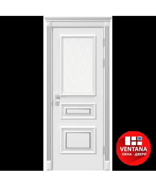 Межкомнатная дверь RODOS Siena Rossi со стеклом рис.3, белый мат