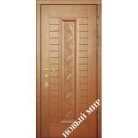 Дверь входная бронированная Новый мир (Каховка) с деревянной облицовкой Рязань