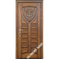 Дверь входная бронированная Новый мир (Каховка) с деревянной облицовкой Прага
