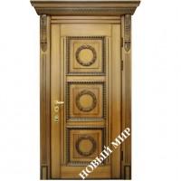 Дверь входная бронированная Новый мир (Каховка) с деревянной облицовкой Парнас