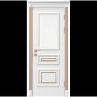 Межкомнатная дверь RODOS Siena Rossi со стеклом рис.3, белый мат,патина