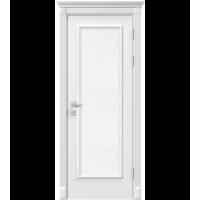 Межкомнатная дверь RODOS Siena Asti со стеклом рис.3, белый мат