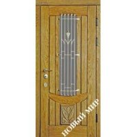 Дверь входная бронированная Новый мир (Каховка) с деревянной облицовкой Арбат