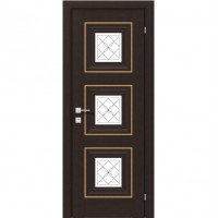 Межкомнатная дверь RODOS VERSAL Irida middle molding, со стеклом, с гравировкой