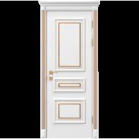 Межкомнатная дверь RODOS Siena Rossi глухое, белый мат+патина
