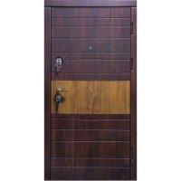Дверь входная бронированная VERY DVERI Комби вишня мореная (серия «Элит»)