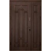 Дверь входная бронированная VERY DVERI Арка темный орех улица (серия «Эконом полуторный»)