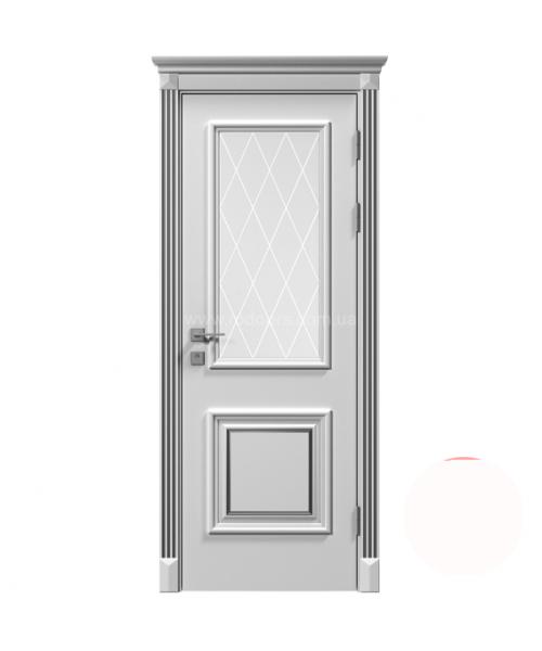 Межкомнатная дверь RODOS Siena Laura со стеклом рис.3, белый мат