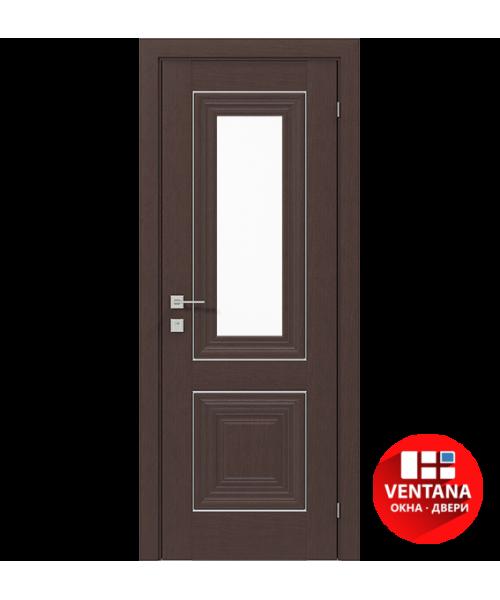 Межкомнатная дверь RODOS VERSAL Esmi basic molding, со стеклом