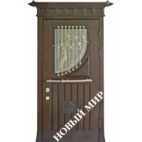 Дверь входная бронированная Новый мир (Каховка) с деревянной облицовкой Фуджи