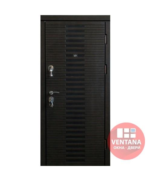 Дверь входная бронированная VERY DVERI Лесенка венге с патиной (серия «ВИП+»)
