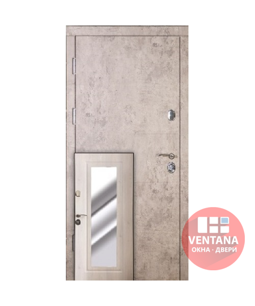 Дверь входная бронированная VERY DVERI Алиса с зеркалом (серия «ВИП+ Эксклюзив»)