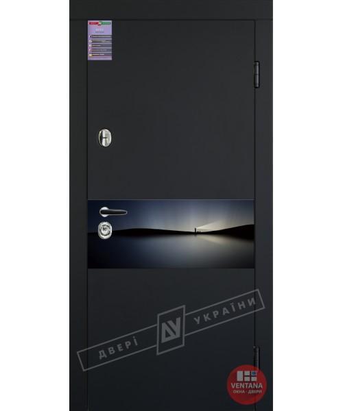 Дверь входная бронированная Двери Украины серия ИНТЕР ArtGlass 8