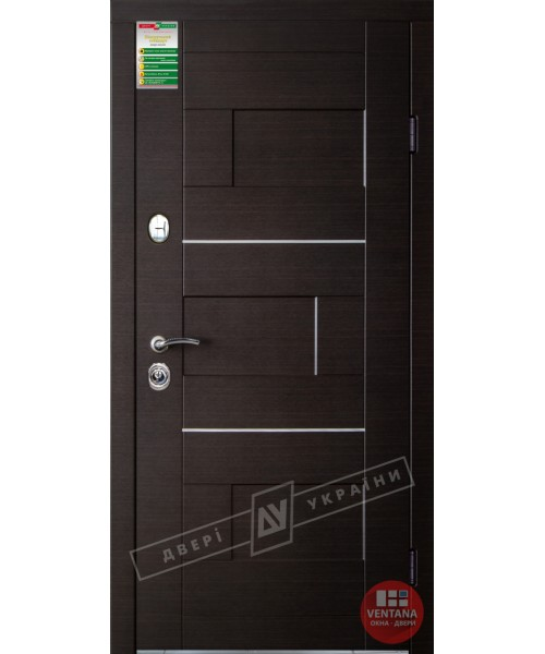 Дверь входная бронированная Двери Украины серия ИНТЕР Куб