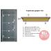 Дверь входная бронированная Двери Украины серия  БС  Прованс 2 кристал
