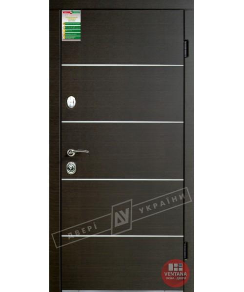 Дверь входная бронированная Двери Украины серия БС  ТУРИН декор