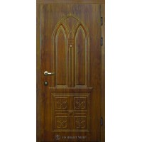 Дверь входная бронированная Новый мир (Каховка) Милан с накладными элементами и резьбой