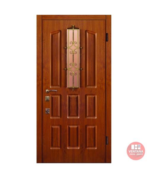 Дверь входная бронированная Новый мир (Каховка) Натали Шоколадка, с/п и решеткой