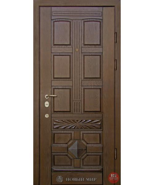 Дверь входная бронированная Новый мир (Каховка) Ретро с накладными элементами