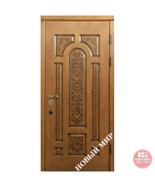Дверь входная бронированная Новый мир (Каховка) Русь с полной резьбой