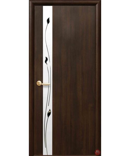 Межкомнатная дверь Новый стиль коллекция Квадра Злата