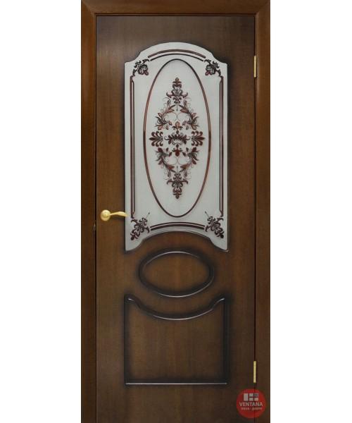 Межкомнатная дверь ОМиС Виктория СС+ФП Цветок