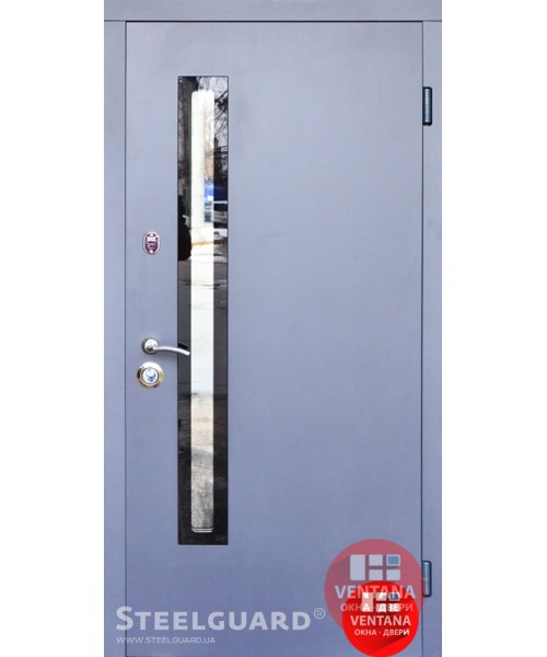 Дверь входная бронированная Steelguard Серия RESISTE AV 1 Grey Glass New