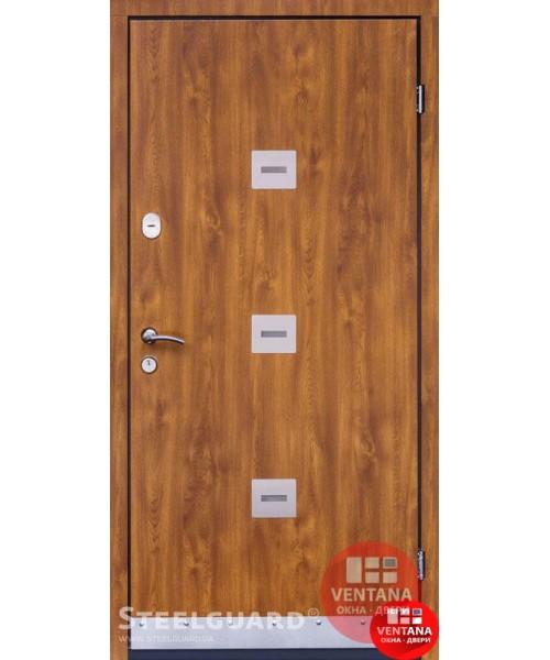Дверь входная бронированная Steelguard Серия ETERO Sigma Golden Oak