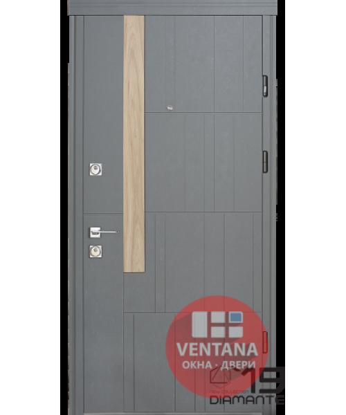 Дверь входная бронированная Страж коллекции Geometry Grattel