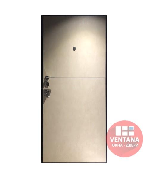 Дверь входная бронированная VERY DVERI Горизонт тёмно/бежевый бетон моттура (серия «Элит»)