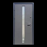 Дверь входная бронированная VERY DVERI Грей-Гласс (серия «Коттедж»)