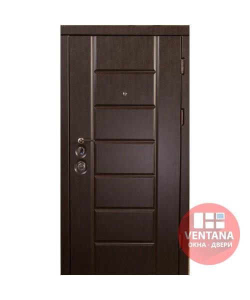 Дверь входная бронированная VERY DVERI Канзас венге (серия «ВИП+»)