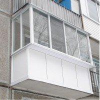 Балкон Остекление балконов с виносом (П и Г образные)