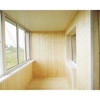 Балкон Отделка лоджии деревянной вагонкой