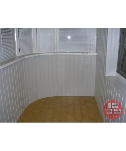 Балкон Обшивка лоджии пластиковой вагонкой