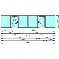 Балкон StekoЛоджия прямая- ПВХ Steko S-300 (от парапета)