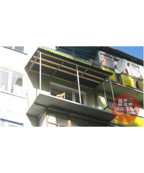 Балкон Балкон с выносом по полу в хрущевке