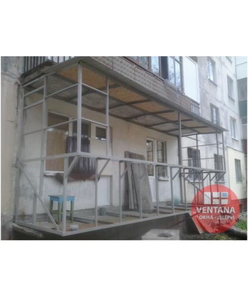 Балкон Вынос балкона по полу и подоконнику